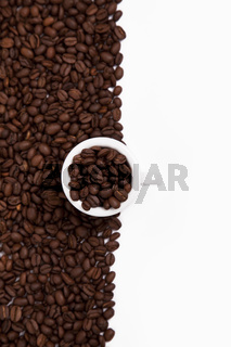 Cappuchino cup with beans