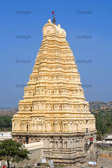 Gopuram of Virupaksha temple, Hampi, Karnataka
