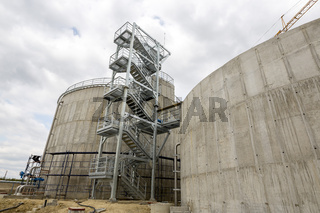 Wastewater treatment plant Water tank