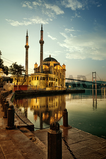 Mosque and Bosphorus bridge