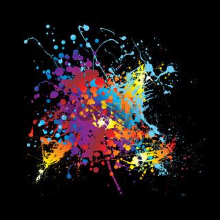Splat ink rainbow