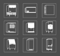 Simple Set of Fridge Related Vector Line Icons.