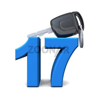Führerschein mit 17 - Blau