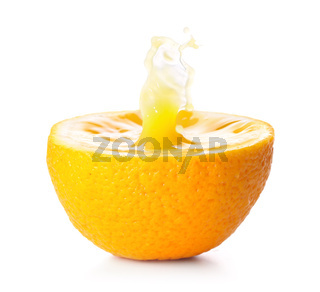 splash in fresh orange, isolated on white
