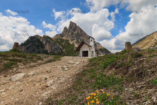 Small chapel at Falzarego Pass, Italy