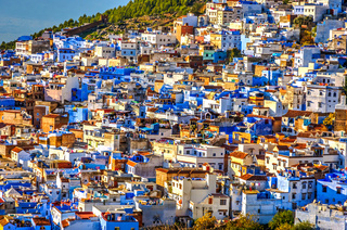 Chefchaouen panorama, blue city, Morocco