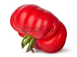 Fresh heirloom tomato inverted