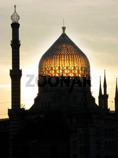 Yenidze von Dresden bei Sonnenuntergang 156
