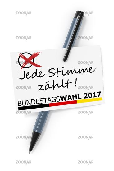Bundestagswahl 2017 Jede Stimme zaehlt