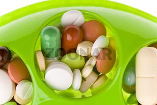 Medikamente im Kreis