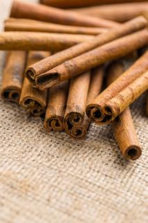 Cinnamon sticks spice.