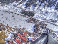 Aerial view of the Stubai Valley, Austrian Tyrol