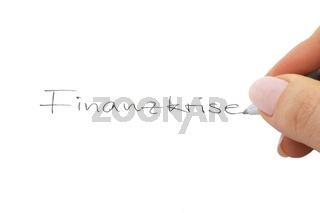 Finanzkrise Handschrift