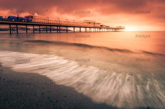 Paignton Pier at sunset