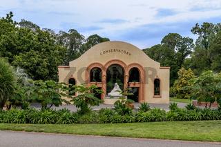 Historisches Gewächshaus in den Melbourner Fitzroy Gardens