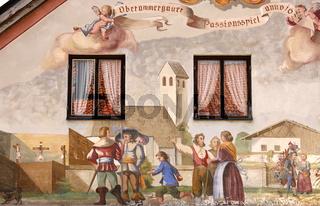 Lüftlmalerei, Oberammergau, Bayern