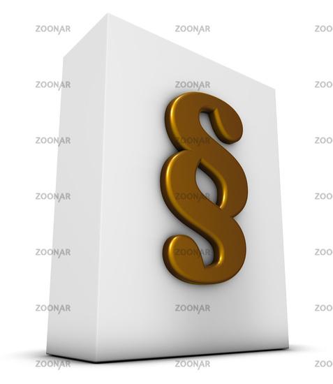 weiße box mit paragraphsymbol - 3d rendering
