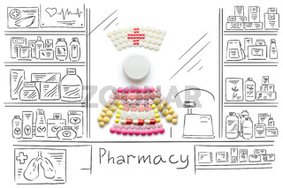 Nurse with pills.