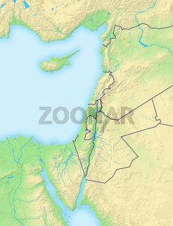 Palästina , Reliefkarte.