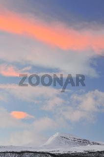 wolkenstimmung, lappland, schweden, drifting clouds above lapland, sweden