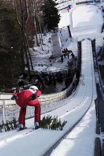 FIS Team Tour 2011 Skifliegen Oberstdorf KARALOUV Ivan KAZ