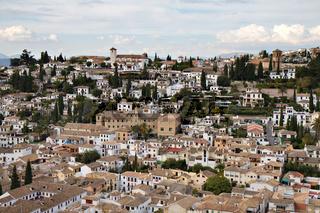Panorama of the moorish Albaicin quarter