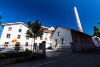 View to the brewery Muller Brau in the city of Baden in Switzerland