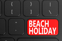 Beach Holiday on black keyboard