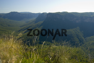 Landscape view of the Grose Valley, NSW, Australia