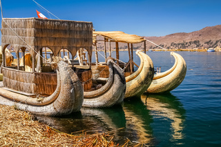 Boats on Titicaca Lake