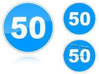 Variants a Minimum speed limit - road sign