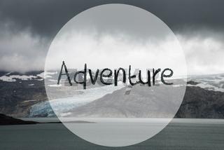 Glacier, Lake, Text Adventure