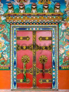 Buddhist monastery door