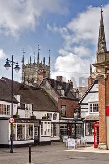 Market Place, Evesham, Wychavon, Worcestershire, UK