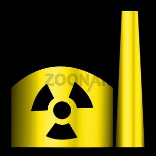 Atomkraftwerk schwarz