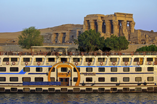 Egypt Kom Ombo Boat At Temple Of Sobek