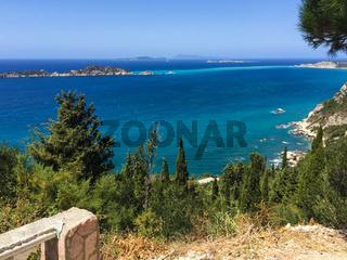 Blick von Afionas aufs Mittelmeer, Korfu