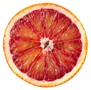 Blood red orange slice