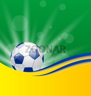 Football card in Brazil flag colors