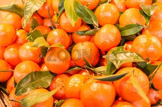 Frische Clementinen als Hintergrund