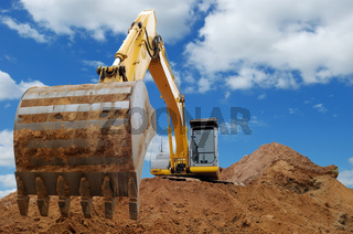 Excavator Loader bulldozer with big bucket