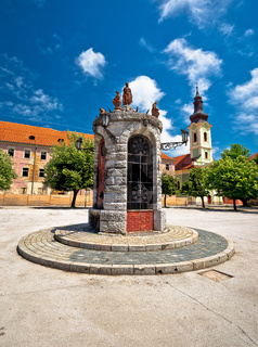 Town of Karlovac central square view