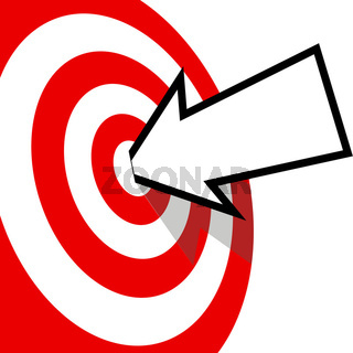 On Target Arrow Copyspace Hits Bulls Eye