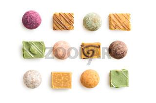 Various sweet candies.