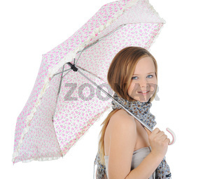 Image of a woman with umbrella