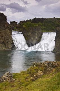 Wasserfall Hjalparfoss,