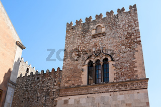 The Saint Catherine church on piazza Badia in Taormina, Sicily, Italy