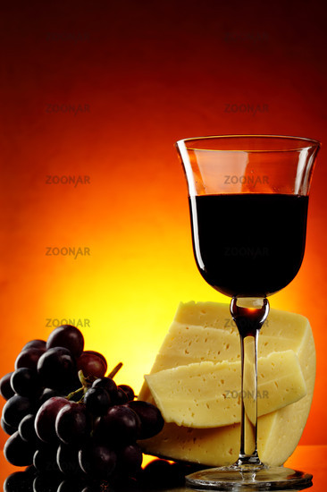 Still-life with red wine