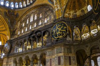 Turkey Istanbul Inside Saint Sophia Church