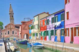 auf Burano in der Lagune von Venedig,Adria,Veneto,Italien
